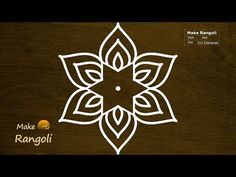 Easy and Beautiful Flower Kolam with dots Simple Rangoli Border Designs, Simple Rangoli Kolam, Easy Rangoli Designs Diwali, Rangoli Designs Latest, Rangoli Designs Flower, Rangoli Borders, Free Hand Rangoli Design, Small Rangoli Design, Rangoli Ideas