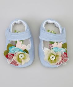 Take a look at this Gracious May Blue Confetti Mary Jane on zulily today!