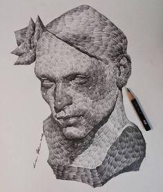 . . Pencil on paper . . . . . . #illustration#drawing#fineart#goodmorningart#sketch#doodle#portrait#드로잉#일러스트#watts#worldofpencil…
