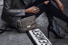 September 19, 2017 Falling for Suede: The Messenger Bag - Small Field Messenger Bag: rag & bone Top: LNA Jacket: Nour Hammour Jeans: Lovers + Friends Shoes: rag & bone