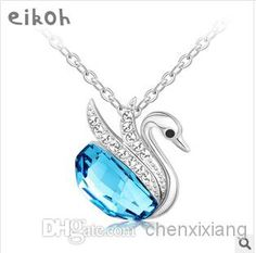 Cheap Swan Crystal Necklace - Wholesale Beloved Swan Crystal Necklace Necklace Short Paragraph Clavicle Online with $16.53/Piece | DHgate