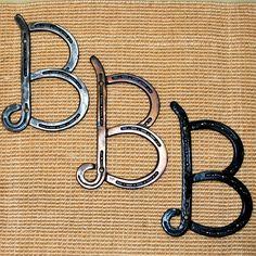 HORSESHOE Letter, INITIALS for words, A, B, C, D, E, F, G, H, I, J, K, L, M, N, O, P, Q, R, S, T, W, X, Y, Z,  Made to order