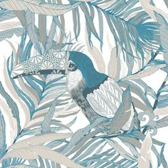 Kuiske Turquoise  wallpaper by Vallila