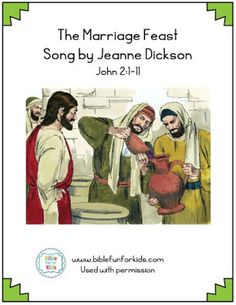 Miracle at the Wedding Feast song with flipchart. Jesus turns water into wine as His first miracle Miracles Of Jesus, Bible Songs, Water Into Wine, Jesus Lives, Sunday School Lessons, New Testament, Marriage, Fun, Kids