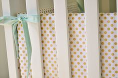 Metallic Gold Dot Crib Bumpers - Gold Crib Bumpers - Polka Dot Crib Bedding by ModFox on Etsy https://www.etsy.com/listing/200813141/metallic-gold-dot-crib-bumpers-gold-crib