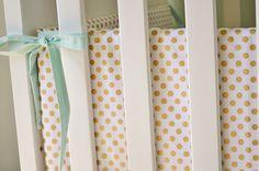 Metallic Gold Dot Crib Bumpers - Gold Crib Bumpers - Polka Dot Crib Bedding by ModFox on Etsy https://www.etsy.com/listing/200813141/metallic-gold-dot-crib-bumpers-gold-crib