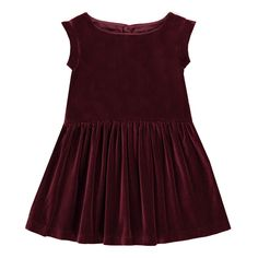 Bonton Jerk Velvet Dress Bordeaux
