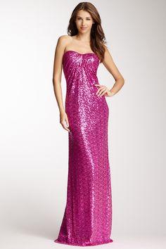 Strapless Sequin Gown on HauteLook