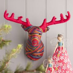 Handmade Woollen Deer Head #christmas