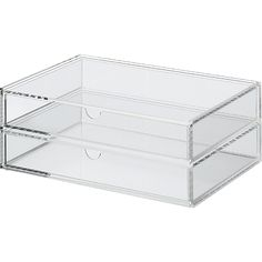 Acrylic Box - 2 Drawers - Wide  EU (European) website has lower prices!