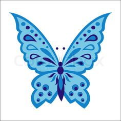 Vector of 'Blue butterfly'
