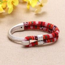Nickel free, lead free and Zine - alloy accessories and cloth rope fashion bracelets  ETS-B0302