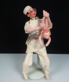 Vintage Roldan Doll Doctor and Newborn Baby with Tag   eBay
