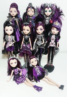 Ever After High, Monster High custons dolls Ever After High, Monster High Clothes, Monster High Dolls, Raven Queen Doll, Happy Birthday Paul, Blue Aesthetic Pastel, Queen Aesthetic, Ever After Dolls, Classy Winter Outfits