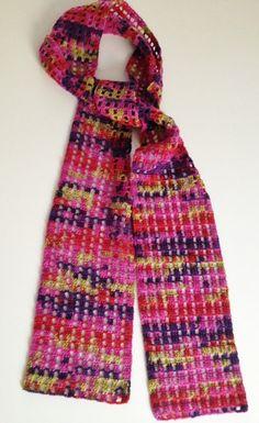 Lemon & Berries thin echarpe by GabyCrochetCrafts on Etsy, £52.00 #crochet #scarf #crafts #handmade