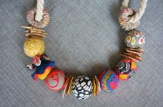Blue, Red and Yellow - Necklace