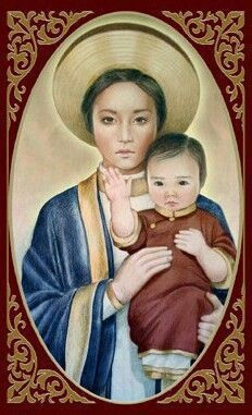 Our Lady of LaVang https://melaniejeanjuneau.wordpress.com/2015/04/10/ethnic-images-of-mary/