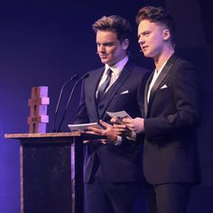 Maynard bros suited, booted, and hosting their first awards show.