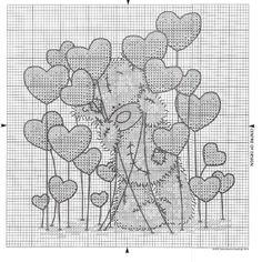 Tatty teddy with hearts