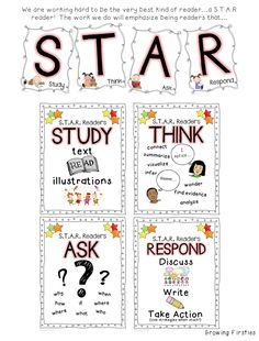 Reading Workshop with a STAR Reader Lens - S=Study T=Think A=Ask R=Respond