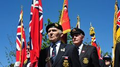 #BBCNews/England - Standard bearers for the procession to the Merchant Navy memorial gathered outside the Cunard Building in Liverpool. http://www.bbc.co.uk/news/uk-england-22667140