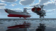 Space Battleship Yamato and Space battleship Andromeda. Arte Sci Fi, Sci Fi Art, Space Fantasy, Sci Fi Fantasy, Star Citizen, Stargate, Yamato Battleship, Sci Fi Anime, Star Blazers