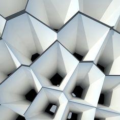 Cones as facade - Public building in Spain Architecture Details, Interior Architecture, Interior And Exterior, Biomimicry Architecture, Origami Architecture, Architecture Board, Fractal, Digital Fabrication, Parametric Design