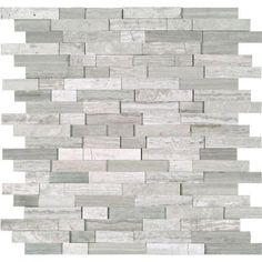 MS International White Quarry Splitface 12 in. x 12 in. x 10 mm Marble Mesh-Mounted Mosaic Tile-WQ-SFIL10MM - The Home Depot