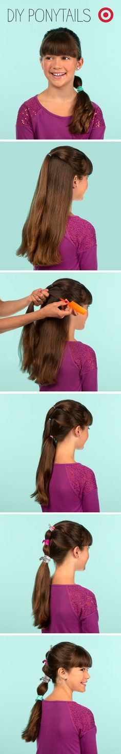 Girls' school pictures just got more stylish with this easy waterfall ponytail.