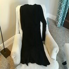 Black dress Long sleeve black dress with waist detail. Very flattering! Excellent used condition, worn twice. Vertigo Paris Dresses