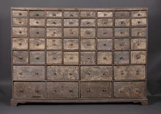 Early C19th seed drawers