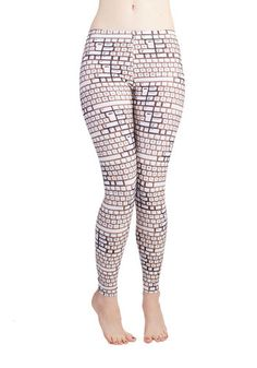 Fresh Take Leggings in Keys. Indulge in a literary look with these keyboard-printed leggings! #gold #prom #modcloth