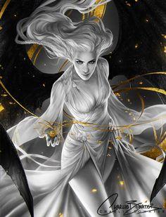 "art-of-cg-girls: "" ImagineFX Cover Issue 126 by Charlie-Bowater "" Dark Fantasy Art, Fantasy Artwork, Fantasy Women, Fantasy Girl, Fantasy Images, Character Portraits, Character Art, Charlie Bowater, Evvi Art"