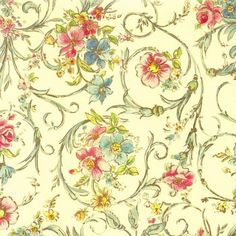 Romantic Floral Florentine Print Paper ~ Kartos Italy