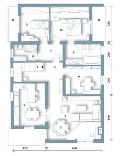 Una casa moderna su livelli sfalsati on pinterest tao for Piani casa su due piani degli anni 60