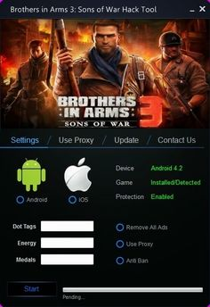 Brothers in Arms 3: Sons of War Cheat Hack tool download 2016 cheats version. Brothers in Arms 3: Sons of War Cheat Hack with cheats. Hack Brothers in Arms 3: Sons of War Cheat Hack on smartphone.