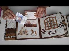 Album Nostalgia - YouTube Diy Album Photo, Diy Mini Album, Mini Album Tutorial, Mini Albums Scrap, Mini Album Scrapbook, Baby Scrapbook, Scrapbook Journal, Art Journal Tutorial, Album Book