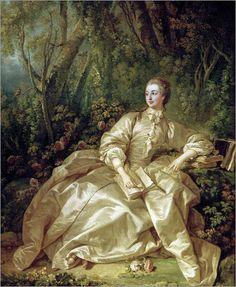Madame de Pompadour in a Garden,1758 Boucher