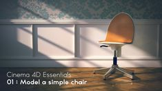 C4D Essentials. 01 Modeling a chair