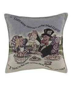 Love this Alice in Wonderland Pillow on #zulily! #zulilyfinds