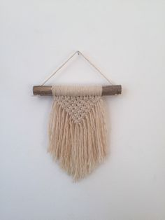 RESERVED FOR MELISSA : Mini Macrame wall hanging by FALLandFOUND on Etsy https://www.etsy.com/listing/259440969/reserved-for-melissa-mini-macrame-wall