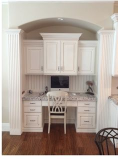 pictures of desks in kitchens | kitchen desk