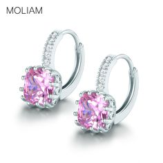 MOLIAM Hoop Earings for Women Silver Color AAA Cubic Zirconia Crystal Earrings Fashion Jewelry Bijoux Hot Sale MLE001 //Price: $8.99 & FREE Shipping //     #hashtag1