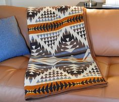 I definitely NEED one of these Navajp Blankets by UrbanCamp. Lovely! Wool base, cotton pattern