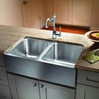 Magnum Equal Double Bowl Stainless Steel Sink w/ Apron