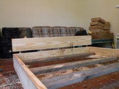 2 X 8 Bed: 5 Steps (with Pictures) Design Studio Office, Recording Studio Design, Wooden Pallet Furniture, Wooden Pallets, Diy Wood Projects, Wood Crafts, Making A Bed Frame, Pallet Bed Frames, Fine Woodworking