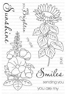 Clearly Besotted SUNSHINE AND SMILES Clear Stamp Set at Simon Says STAMP!