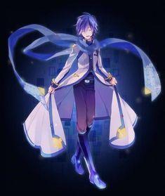 Kaito my favorite vocaloid Vocaloid Kaito, Kaito Shion, Erza Scarlet, Angel Beats Anime, Black Butler, Illustration Studio, Manga Illustration, Studio Ghibli, Sword Art Online