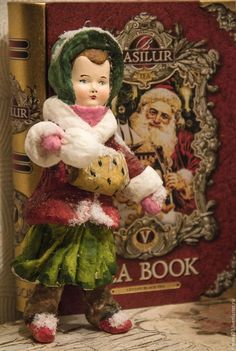Купить Ватные винтажные игрушки( Продано). - комбинированный, ватные елочные игрушки, Новый Год, винтаж