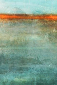 Trace Ii by Daichi, Kay - Wall Art Giclee Print or Canvas Blue Abstract, Abstract Landscape, Landscape Paintings, Art Commerce, Encaustic Art, Global Art, Textures Patterns, Home Art, Art Gallery